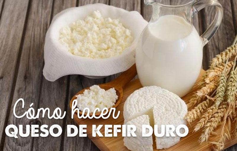 Cómo hacer queso de kefir duro, receta.