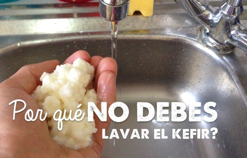 ▷¿Por qué NO debes lavar el kéfir?
